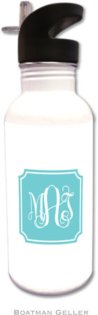 Boatman Geller - Create-Your-Own Personalized Water Bottles (Solid Inset Round Corners Preset)