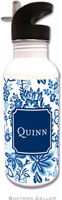 Boatman Geller - Personalized Water Bottles (Classic Floral Blue Preset)