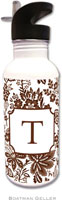 Boatman Geller - Personalized Water Bottles (Classic Floral Brown)