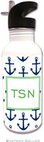 Boatman Geller - Personalized Water Bottles (Anchors Navy)