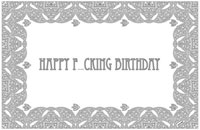 Disposable Paper Placemat Pad: Happy F-cking Birthday (Color In)