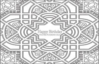Disposable Paper Placemat Pad: Happy Birthday You're F-cking Old (Color In)