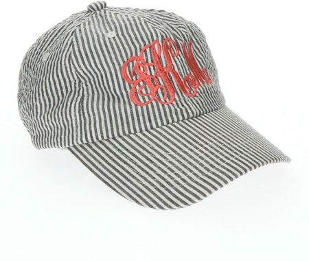 Baseball Caps - Grey Seersucker