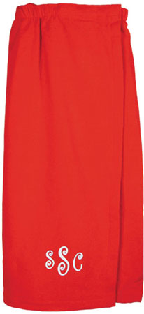 Adult Bath Wraps - Red