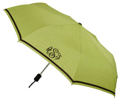 Adult Umbrellas - Lime with Brown Trim