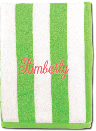 Beach Towels - Lime Striped