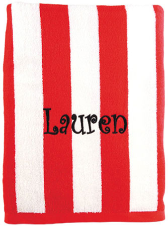 Beach Towels - Red Striped