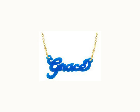 Acrylic Cut-Out Nameplate Necklace