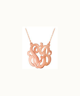 Rose Gold Vermeil Cutout Double Initial Necklace