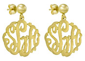 Gold Vermeil Cutout Earrings