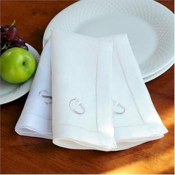 Personalized Gifts - Linen Hemstitch Napkins (Set of 6)