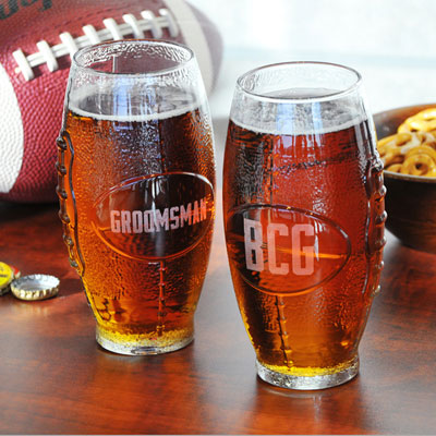 Personalized Gifts - Custom Glass Football Tumbler (2115)