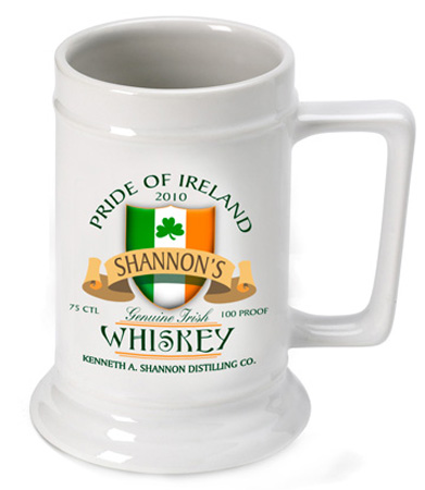 Beer Steins - Irish Whiskey