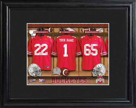 College Football Locker Room w/Wood Frame - Ohio State (GC733)