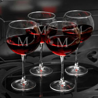 Set of 4 Red Wine Glasses (18 oz)