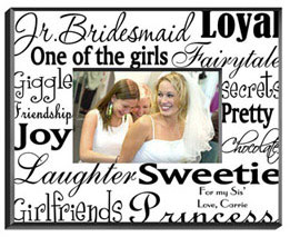 Junior Bridesmaid Frame - Black White