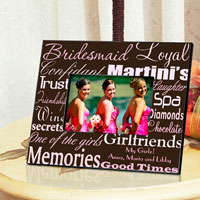 Bridesmaid Frame - Pink on Brown