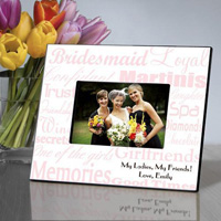 Bridesmaid Frame - Pink White
