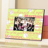 Bridesmaid Frame - Polka Dot Green