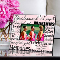 Bridesmaid Frame - Polka Dot Pink