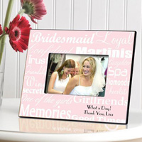 Bridesmaid Frame - White Pink