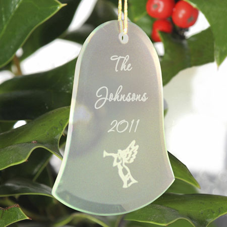 Bell Beveled Glass Ornament