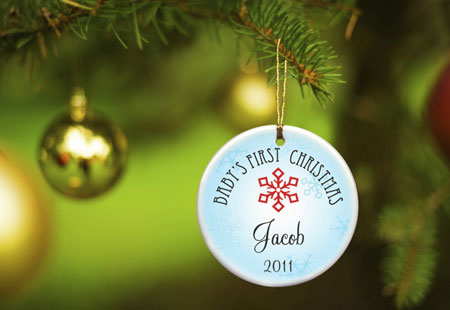 Baby Boy's First Christmas Ornament - Style 2