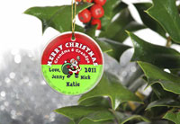 Merry Christmas Ornaments - Santa Red