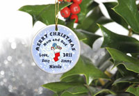 Merry Christmas Ornaments - Stocking Snow