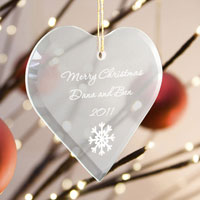 Heart Beveled Glass Ornament