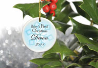 Baby Boy's First Christmas Ornament - Style 1