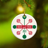 Contemporary Classic Ornament - Red Green