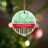 My First Christmas Ornament - Red Green