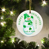 Irish Ornament - Lucky Snowman