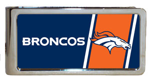 Personalized NFL Emblem Money Clip - Broncos (GC284)