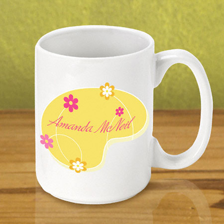 Gleeful Coffee Mug - Yellow Meadow