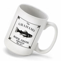 Cabin Series Coffee Mug - Trout