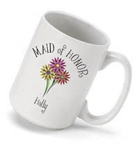 Bouquet Coffee Mug - Maid of Honor