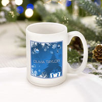 Winter Holiday Coffee Mugs - Blue Holiday Surprises (GC771)