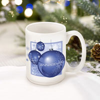 Winter Holiday Coffee Mugs - Blue Ornament (GC771)