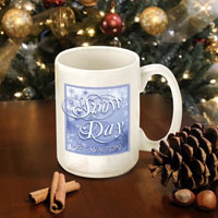 Winter Holiday Coffee Mugs - Blue Snowday (GC771)