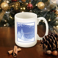 Winter Holiday Coffee Mugs - Blue Snowscapes (GC771)