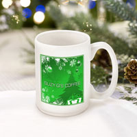 Winter Holiday Coffee Mugs - Green Holiday Surprises (GC771)