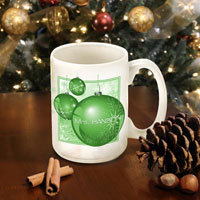 Winter Holiday Coffee Mugs - Green Ornament (GC771)