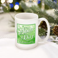 Winter Holiday Coffee Mugs - Green Snowday (GC771)