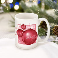 Winter Holiday Coffee Mugs - Red Ornament (GC771)