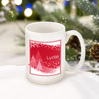 Winter Holiday Coffee Mugs - Red Snowscapes (GC771)