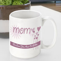 Mother's Day Coffee Mug - Hearts and Flowers