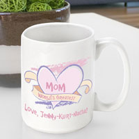 Mother's Day Coffee Mug - Worlds Greatest Mom
