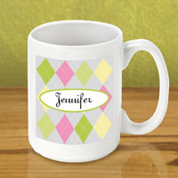Gleeful Coffee Mug - Argyle (GC790)